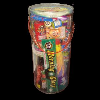 "alt=""barnyard bucket assortment fireworks at nj fireworks store near nyc"""