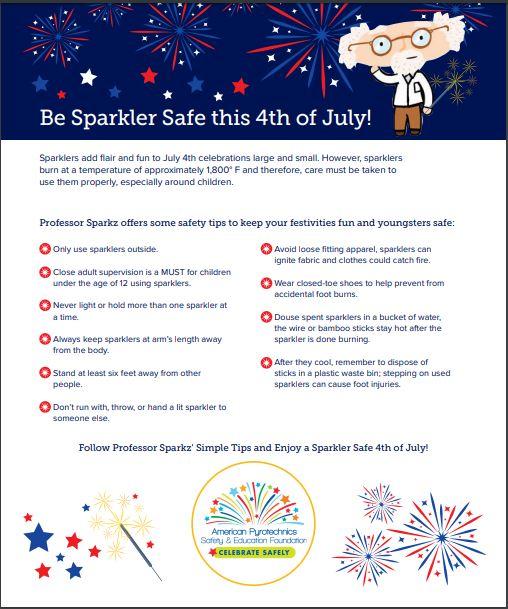 sparklersafety