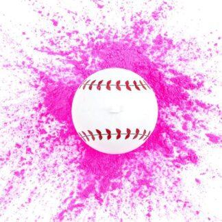 "alt=""gender reveal baseball for girls in pink at nj fireworks store near nyc"""
